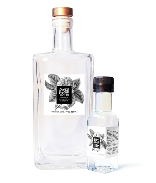 culinary rose water 100 ml and 350 ml bottles
